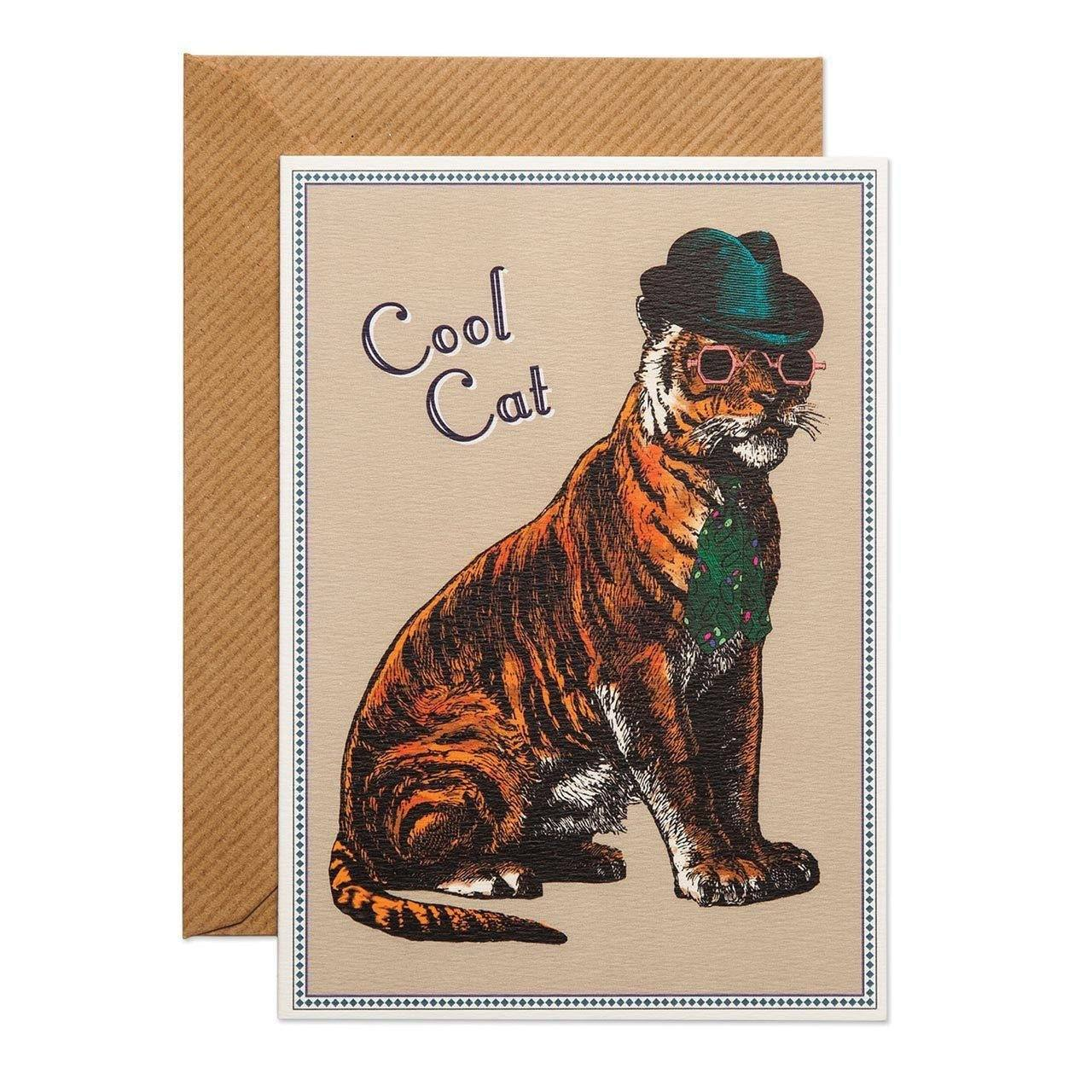 Cool Cat Greeting Card - Chase and Wonder - Proudly Made in Britain