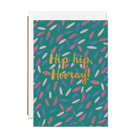 Hip Hip Hooray - Copper Foil Greeting Card