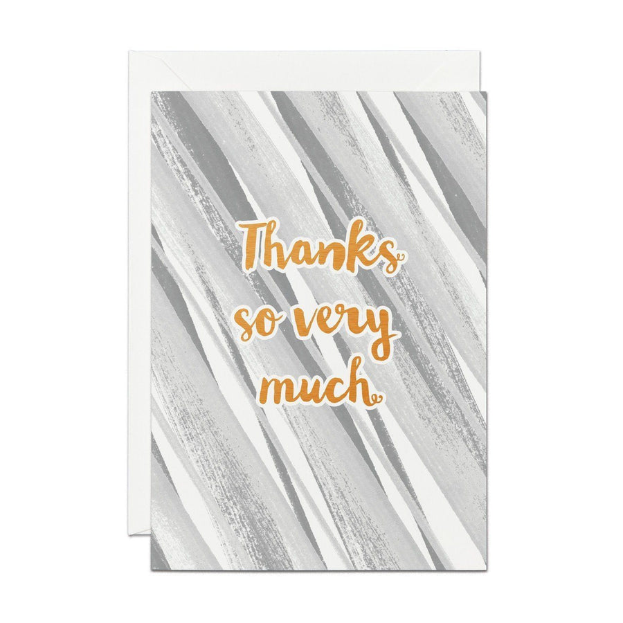Thanks So Very Much - Copper Foil Greeting Card - Chase and Wonder - Proudly Made in Britain