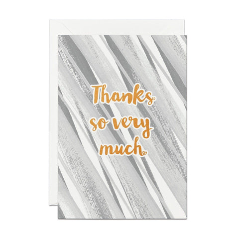 Thanks So Very Much - Copper Foil Greeting Card
