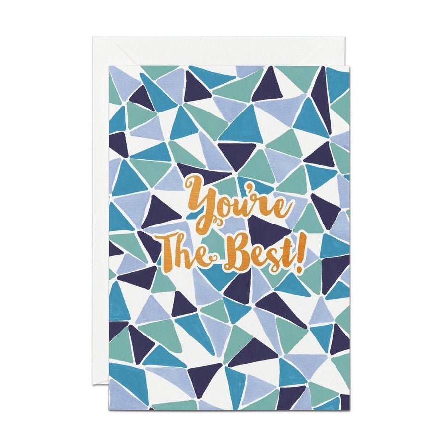 You're The Best - Copper Foil Greeting Card - Chase and Wonder - Proudly Made in Britain