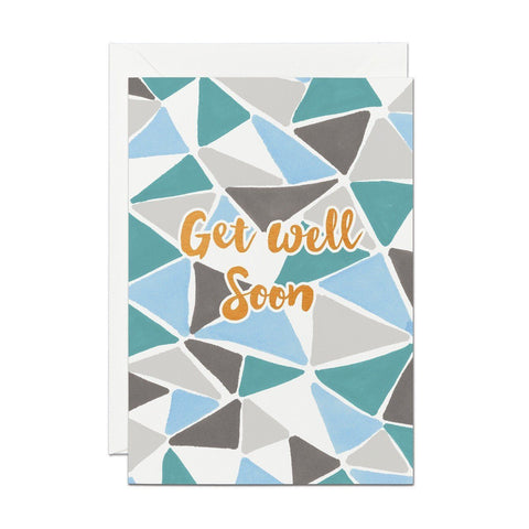 Get Well Soon - Copper Foil Greeting Card