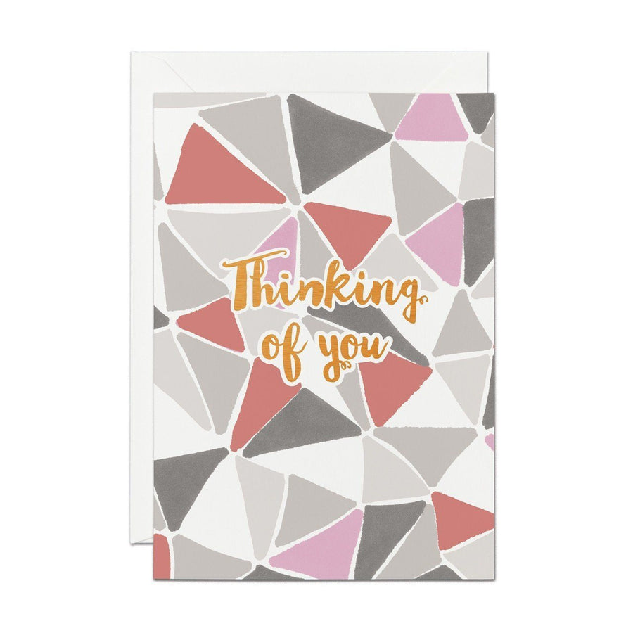 Thinking Of You - Copper Foil Greeting Card - Chase and Wonder - Proudly Made in Britain