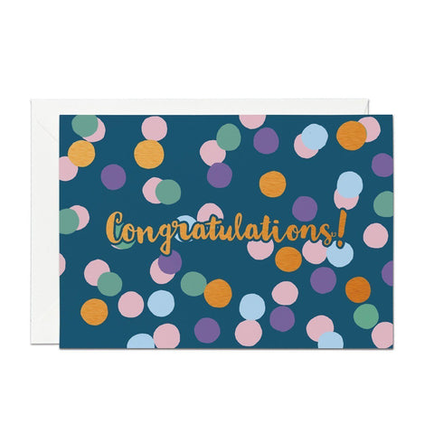 Congratulations - Copper Foil Greeting Card