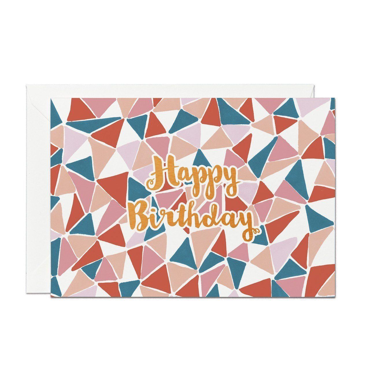 Happy Birthday - Copper Foil Greeting Card