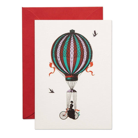 She Rides Above it Greeting Card