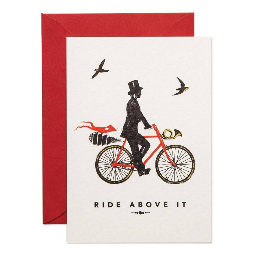 The Gentleman Rides Above It Greeting Card - Chase and Wonder - Proudly Made in Britain