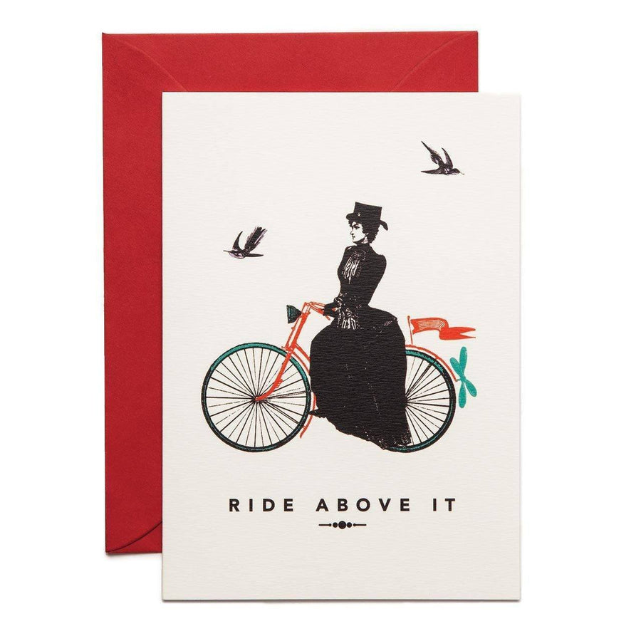 The Lady Rides Above It Greeting Card - Chase and Wonder - Proudly Made in Britain