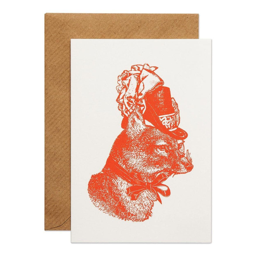 Sophisticated Fox Greeting Card - Chase and Wonder - Proudly Made in Britain