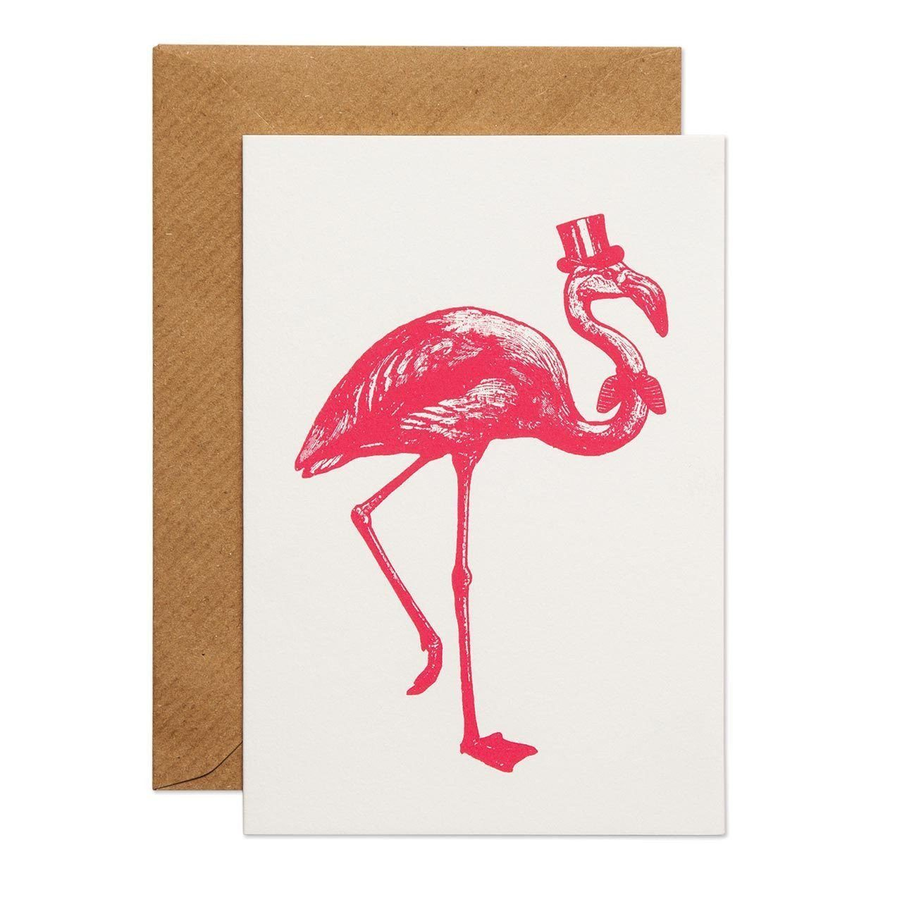 Sophisticated Flamingo Greeting Card