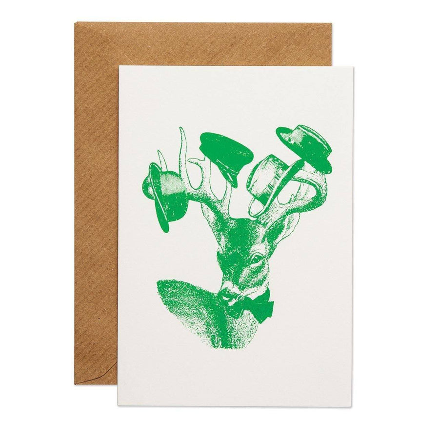 Sophisticated Stag Greeting Card - Chase and Wonder - Proudly Made in Britain