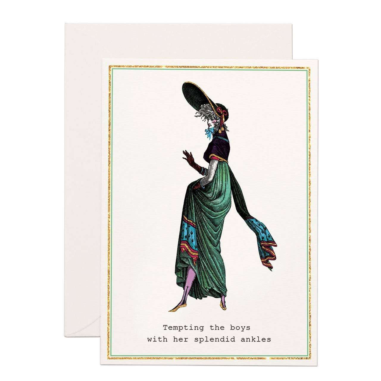 Splendid Ankles greeting card - Chase and Wonder - Proudly Made in Britain