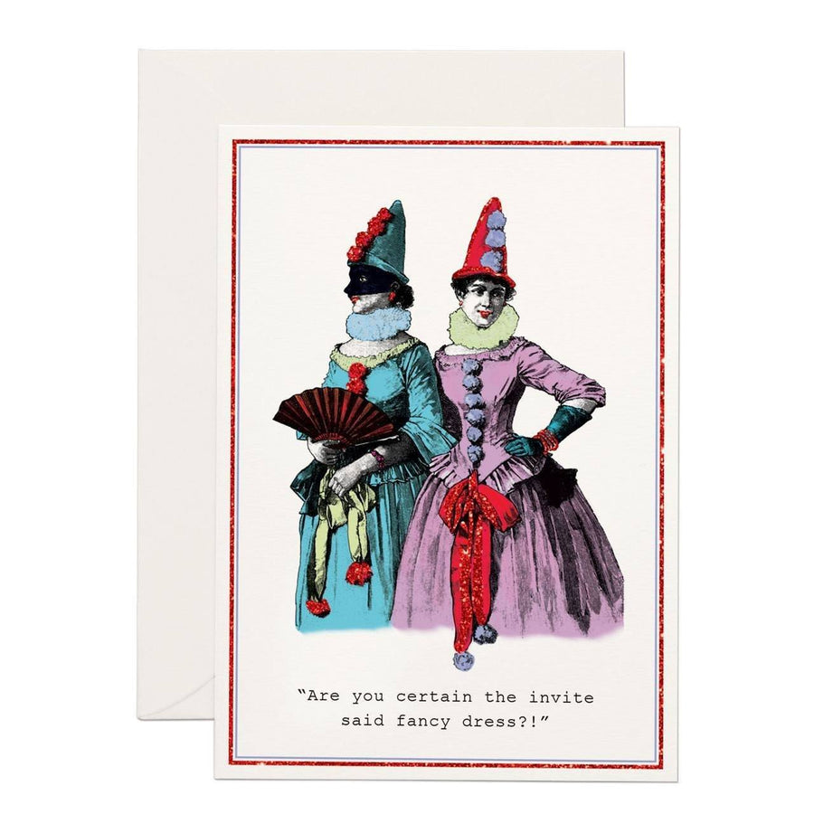 Fancy Dress?! greeting card - Chase and Wonder - Proudly Made in Britain