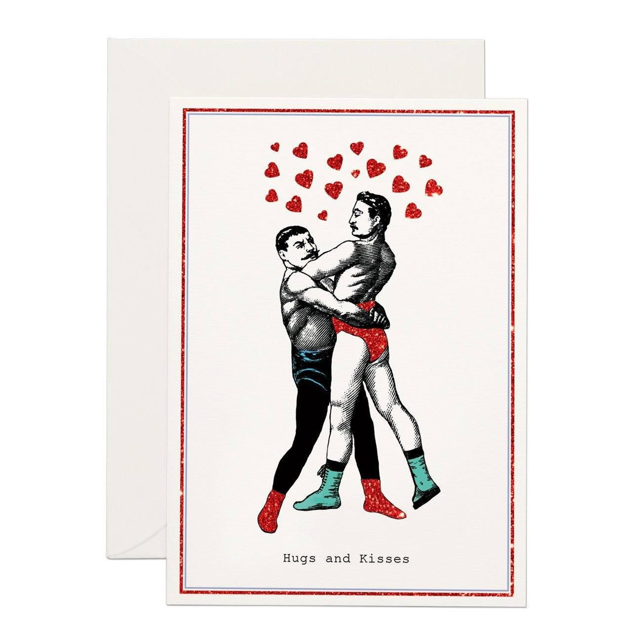 Hugs and kisses greeting card chase and wonder m4hsunfo