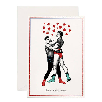 Hugs and Kisses greeting card - Chase and Wonder - Proudly Made in Britain