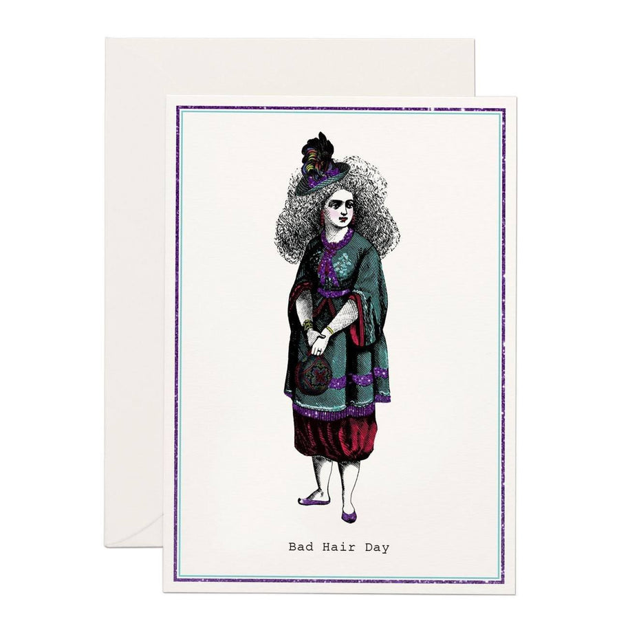 Bad Hair Day greeting card - Chase and Wonder - Proudly Made in Britain
