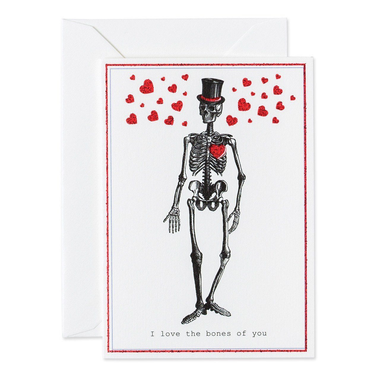 Love the bones of you greeting card - Chase and Wonder - Proudly Made in Britain