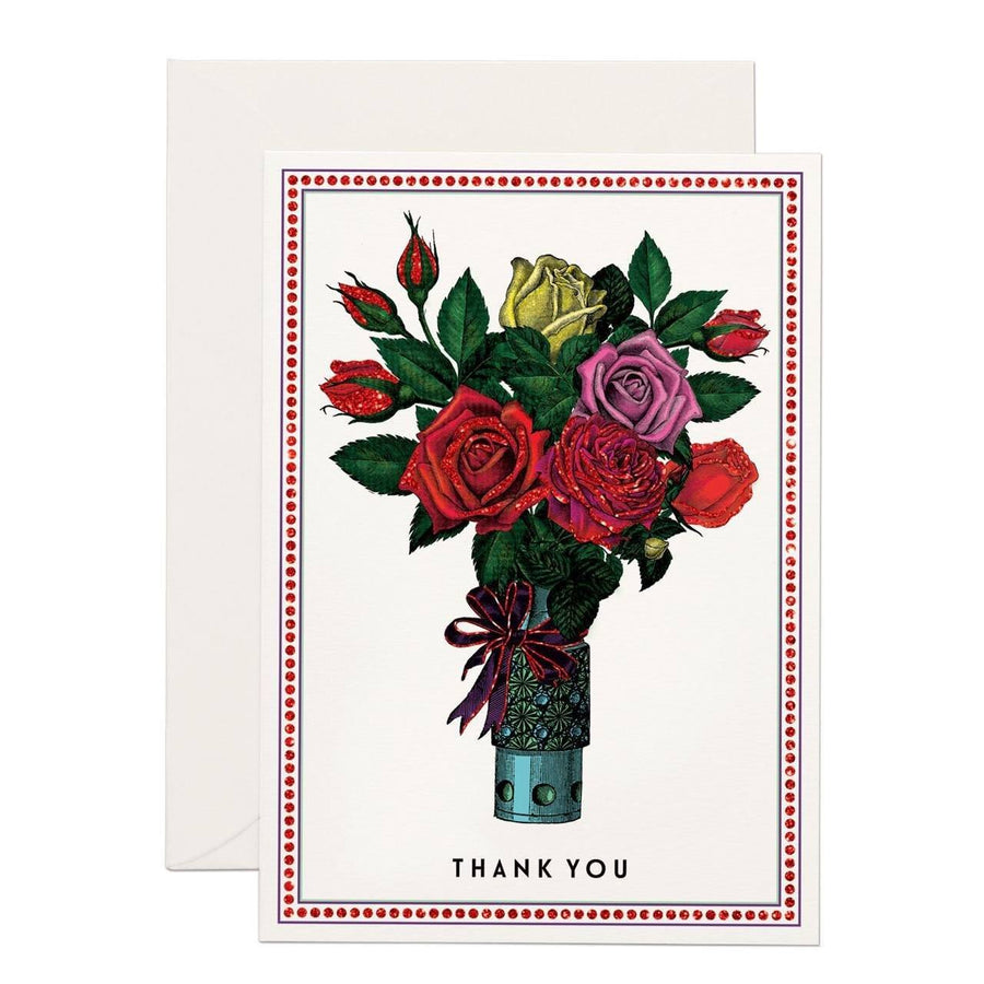 Thank you Flowers (SMALL) greeting card - Chase and Wonder - Proudly Made in Britain