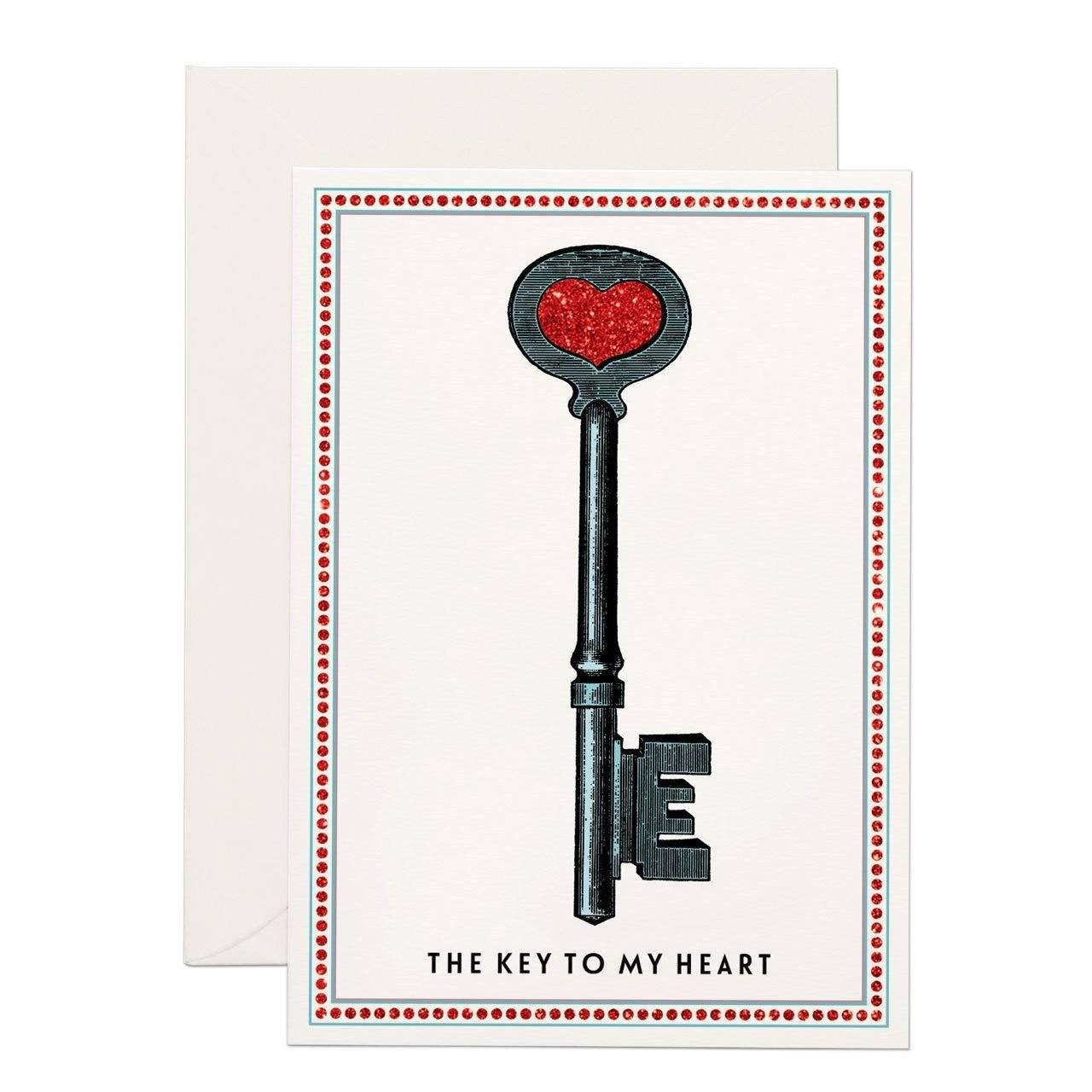 Key to my Heart (SMALL) greeting card - Chase and Wonder - Proudly Made in Britain