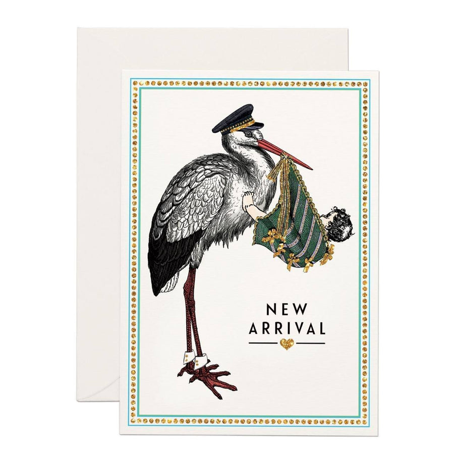 New Arrival greeting card - Chase and Wonder - Proudly Made in Britain