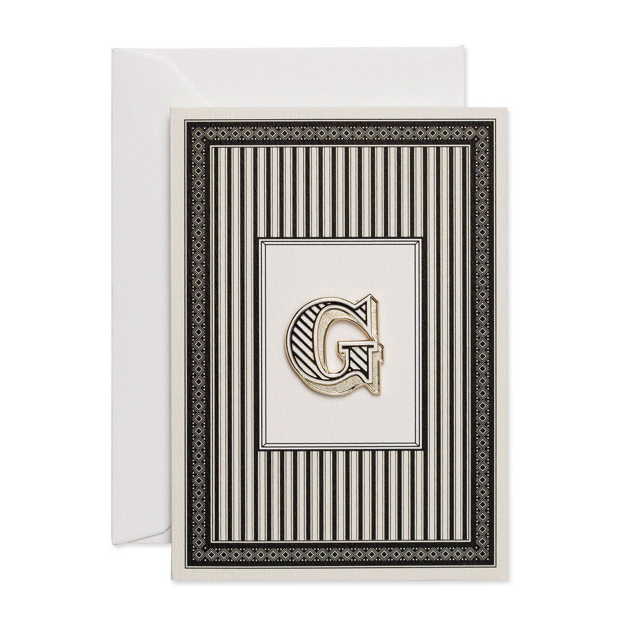 Letter 'G' enamelled badge & greeting card - Chase and Wonder - Proudly Made in Britain