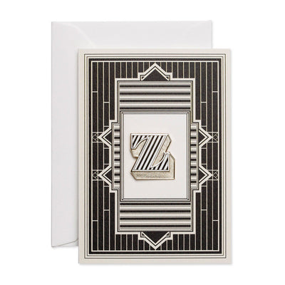 Letter 'Z' enamelled badge & greeting card - Chase and Wonder - Proudly Made in Britain