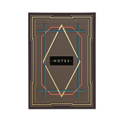 Trio of Art Deco Note Books - Chase and Wonder - Proudly Made in Britain