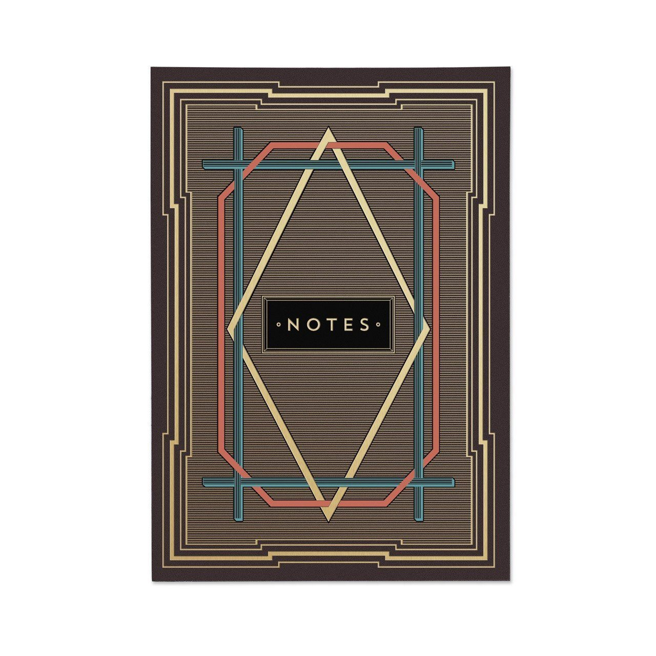 Art Deco (Stripes) Note Book - Chase and Wonder - Proudly Made in Britain