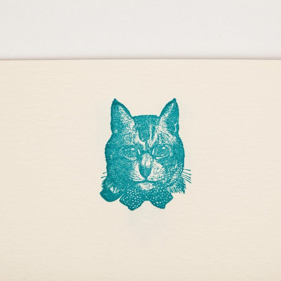 Sophisticated Cat Writing Paper (50 Sheets)
