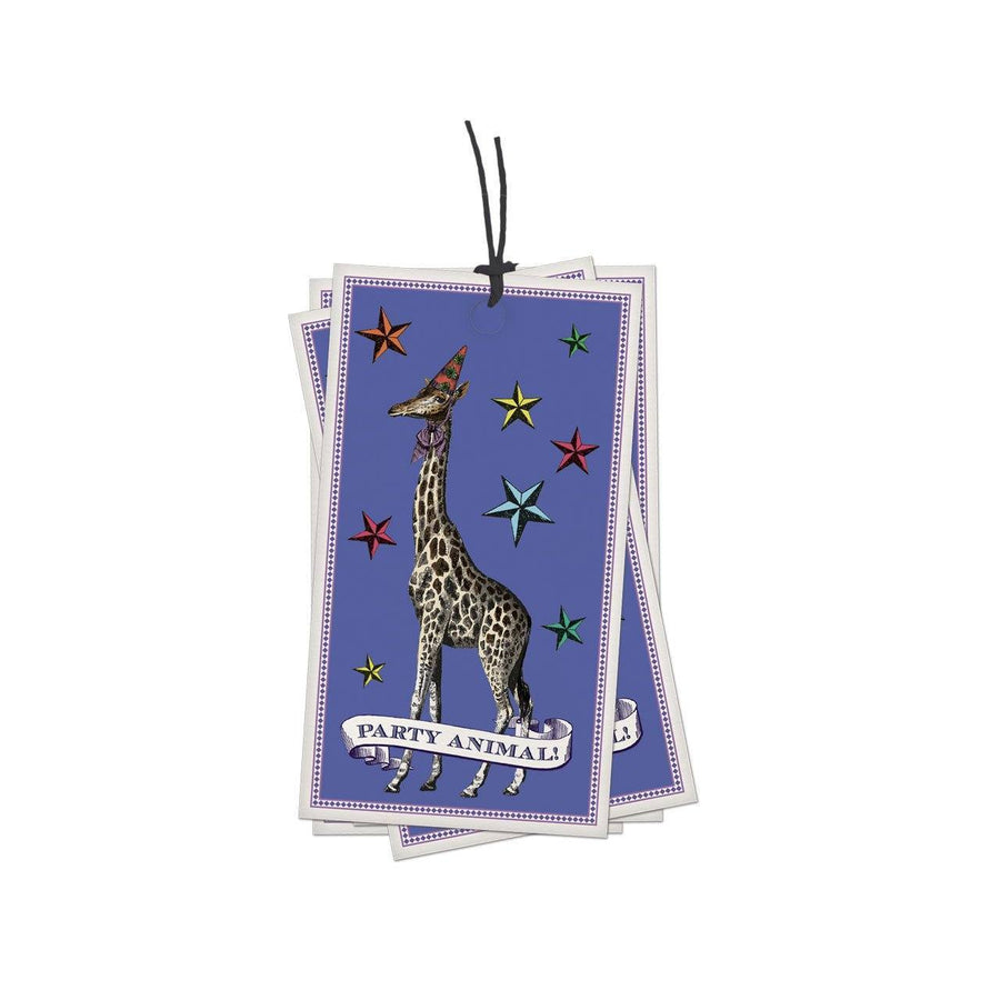 Pack of 10 Party Animal Gift Tags - Chase and Wonder - Proudly Made in Britain