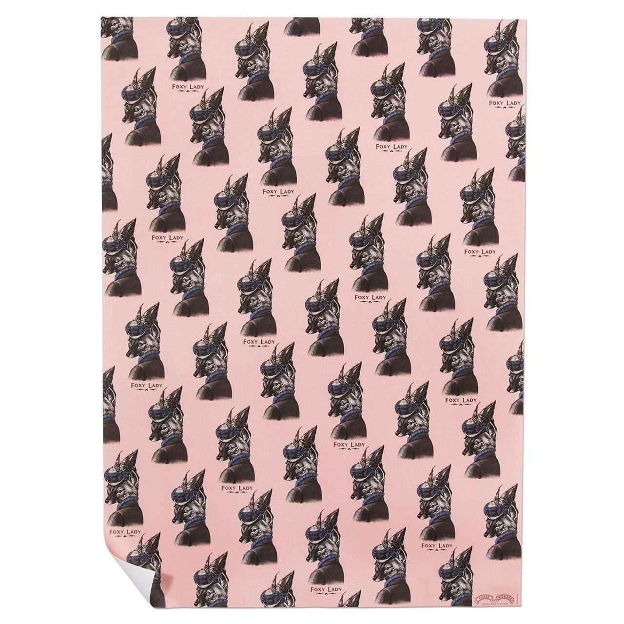 Foxy Lady Wrapping Paper - Chase and Wonder - Proudly Made in Britain