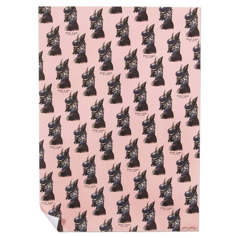 Foxy Lady Wrapping Paper