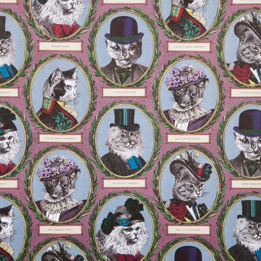 Aristocratic Cat Wrapping Paper - Chase and Wonder - Proudly Made in Britain