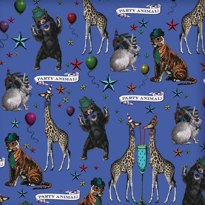 Party Animals Wrapping Paper - Chase and Wonder - Proudly Made in Britain
