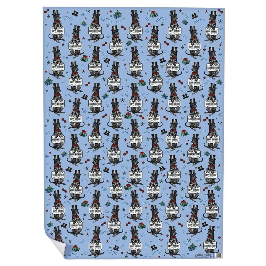 Happy Birthday Hound Wrapping Paper - Chase and Wonder - Proudly Made in Britain