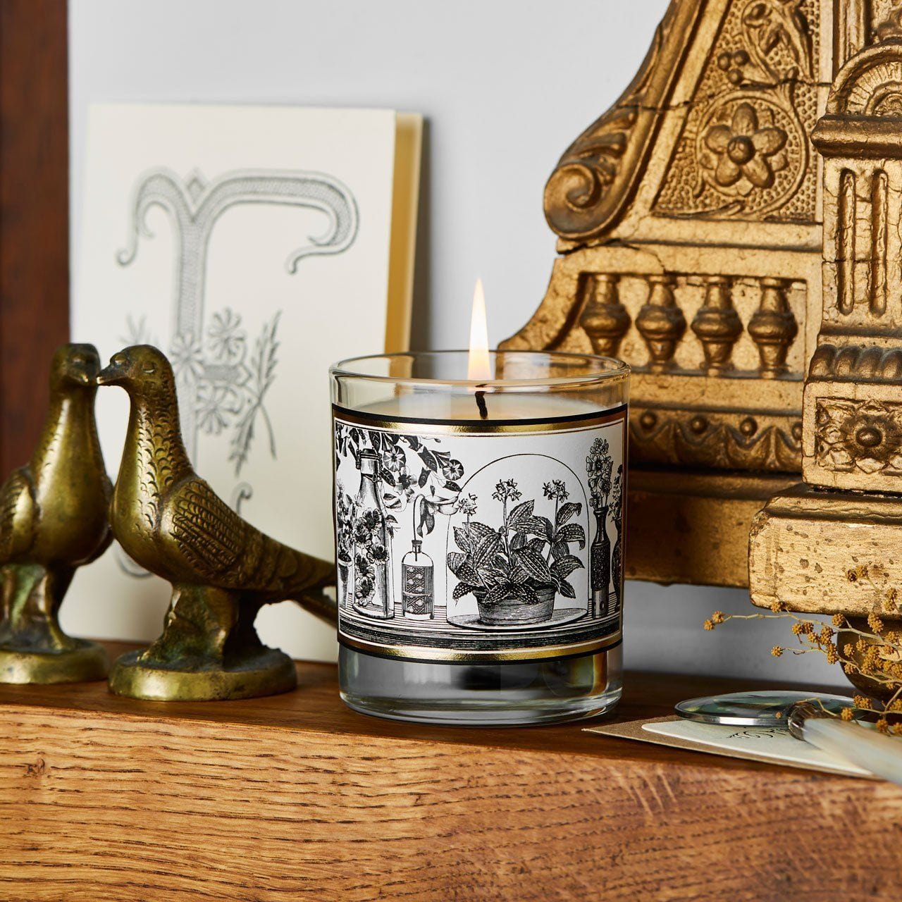 The Botanist Glass Candle - Chase and Wonder - Proudly Made in Britain