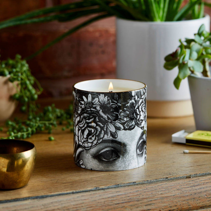 The Flower Lady Ceramic Candle - Chase and Wonder - Proudly Made in Britain