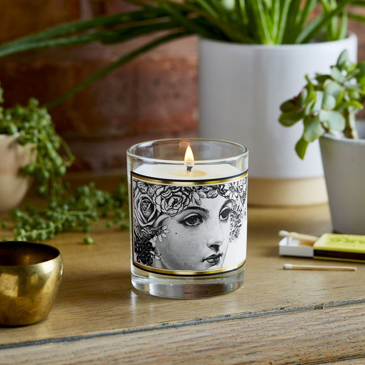 The Flower Lady Glass Candle - Chase and Wonder - Proudly Made in Britain