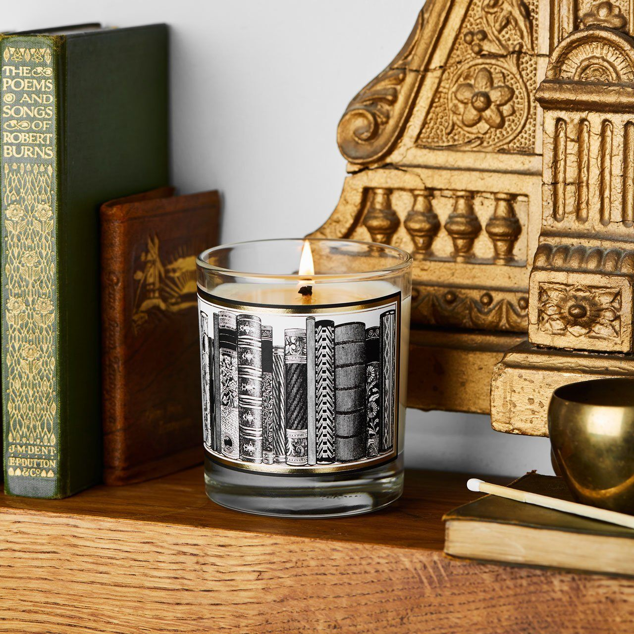 The Library Glass Candle - Chase and Wonder - Proudly Made in Britain