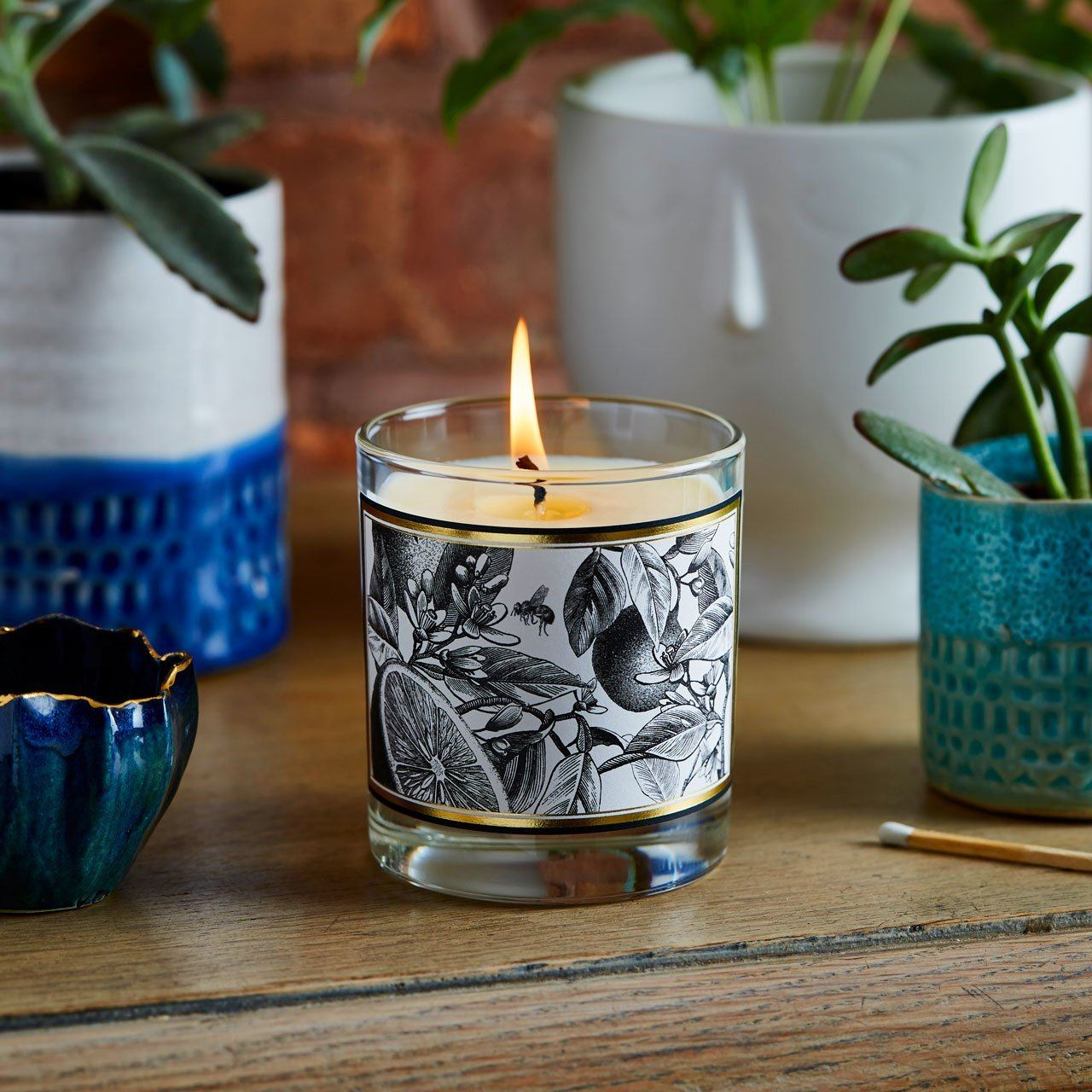 The Orangery Glass Candle - Chase and Wonder - Proudly Made in Britain