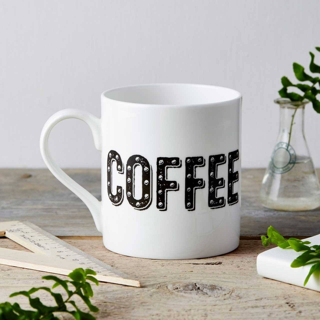 Coffee Type Fine China Mug - Chase and Wonder - Proudly Made in Britain