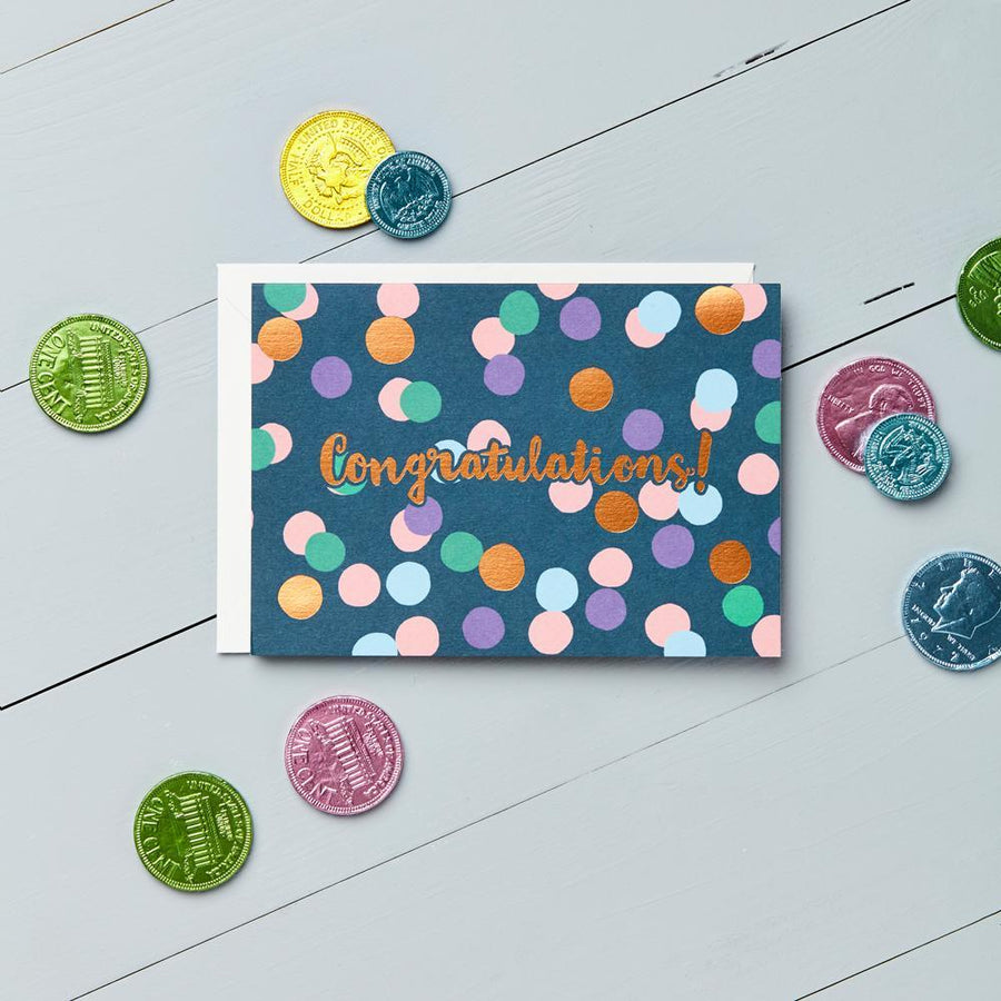 Congratulations - Copper Foil Greeting Card - Chase and Wonder - Proudly Made in Britain