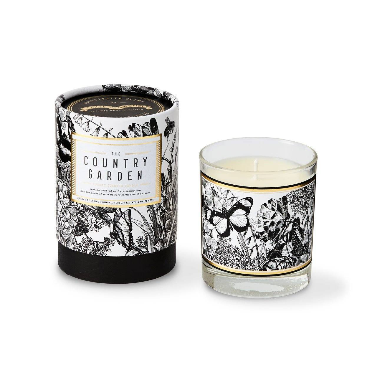 The Country Garden Glass Candle - Chase and Wonder - Proudly Made in Britain