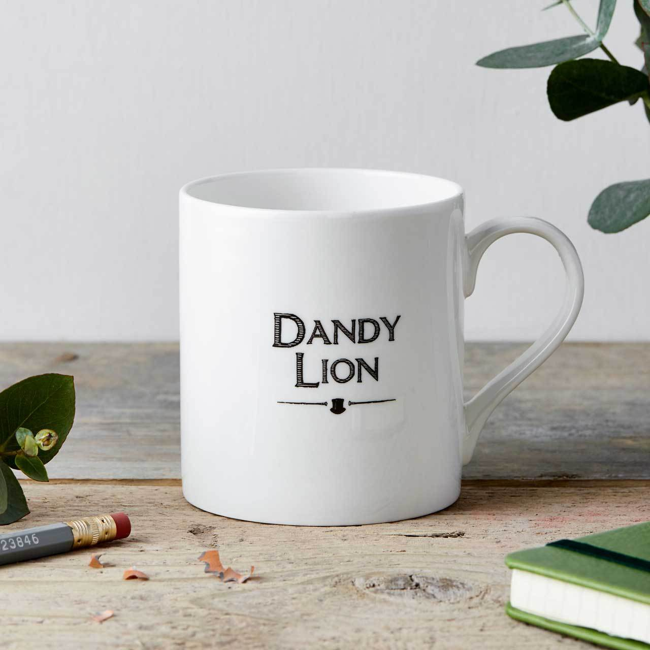 Dandy Lion Fine China Mug