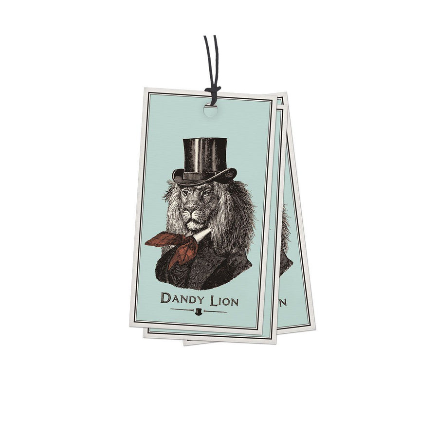 Pack of 10 Dandy Lion Gift Tags - Chase and Wonder - Proudly Made in Britain
