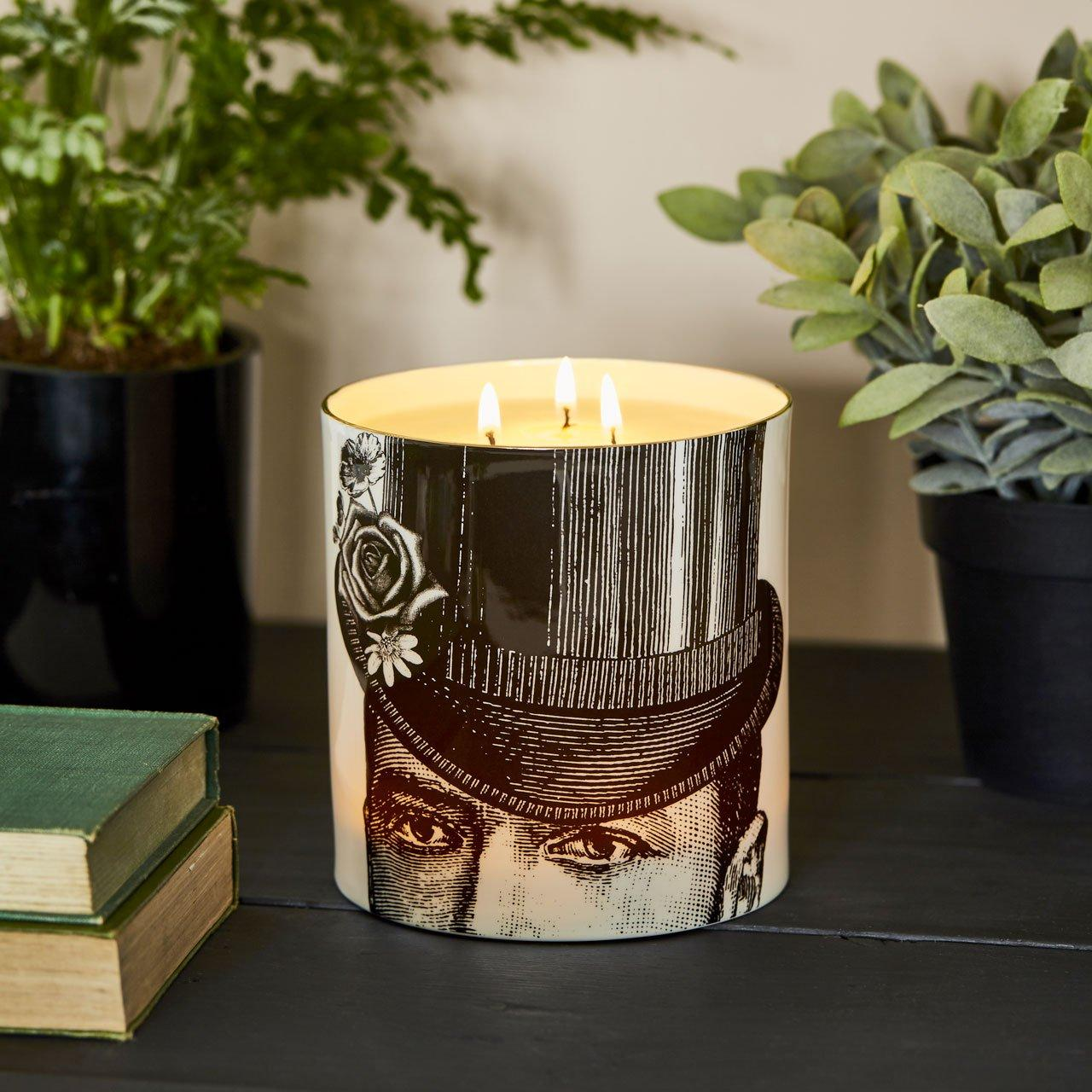 The Dashing Gent 3 Wick Scented Ceramic Candle - Chase and Wonder - Proudly Made in Britain