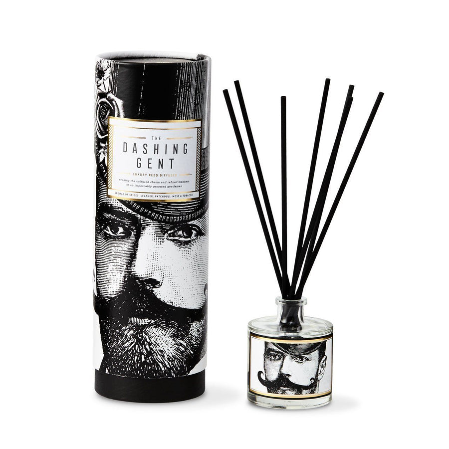 The Dashing Gent Reed Diffuser - Chase and Wonder - Proudly Made in Britain