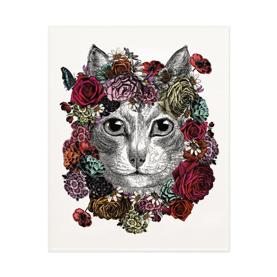 Flower Cat Print - Chase and Wonder - Proudly Made in Britain