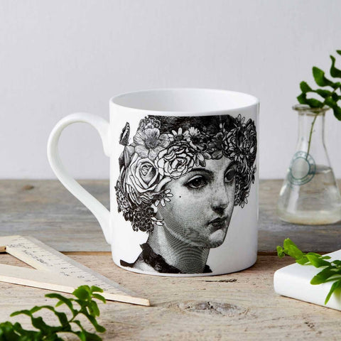 Flower Lady Fine China Mug