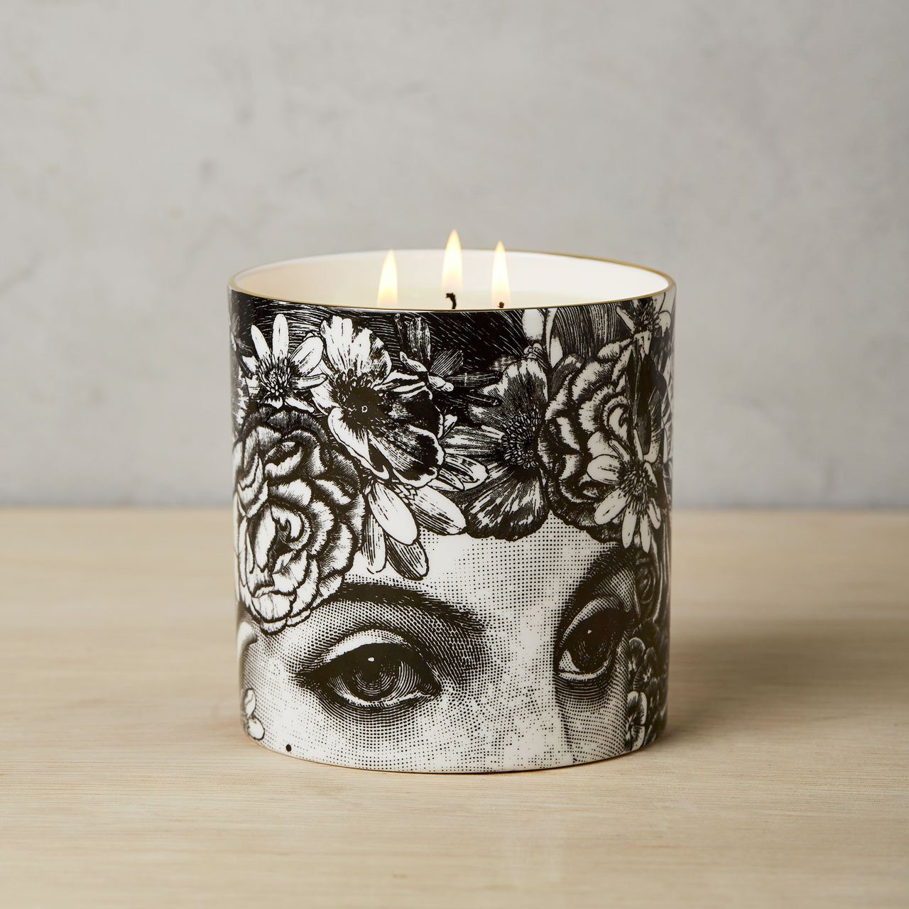 The Flower Lady 3 Wick Scented Ceramic Candle - Chase and Wonder - Proudly Made in Britain